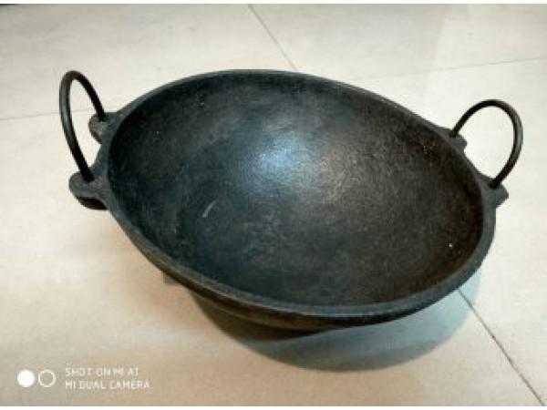 Cast Iron Large Kadai 11 inch