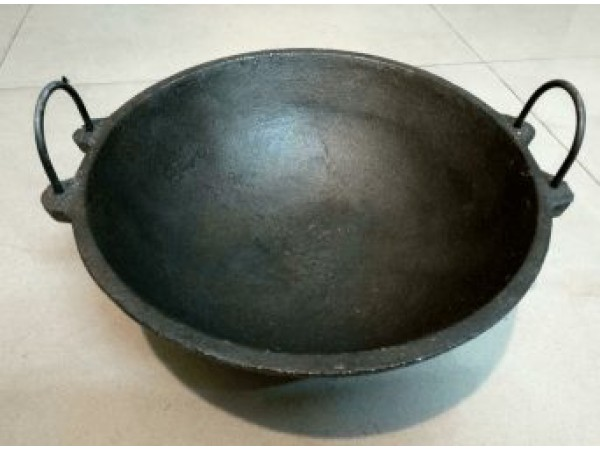 Cast Iron Medium Kadai 9 inch